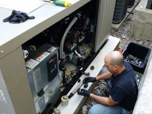 JQ Kohler Generator Putting Together