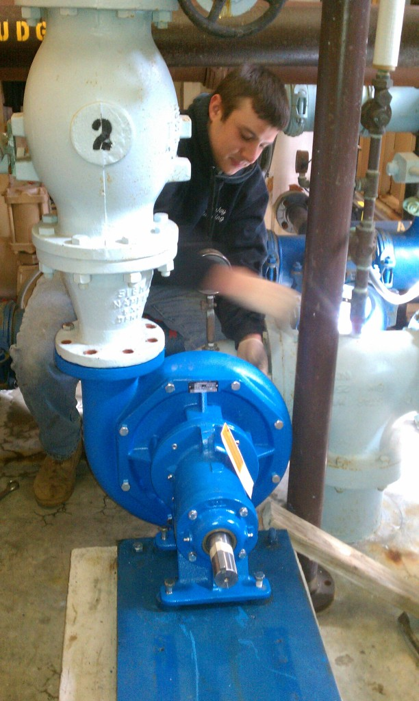 Mike_changing_out_backwash_pump_in_filter_plant