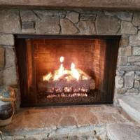 Gas Fireplace Rock