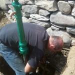 Installation of Ornamental Yard Hydrant